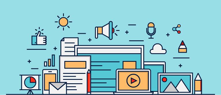 Content Marketing, Design, Social Media